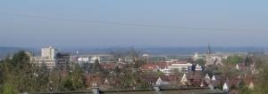 Rathaus und Martinskirche morgens