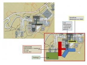 Das bisherige Sindelfinger Krankenhaus kann unter laufendem Betrieb sehr preiswert in einem Bauabschnitt erweitert werden