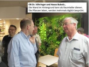 OB Dr. Vöhringer und Hasso Bubolz